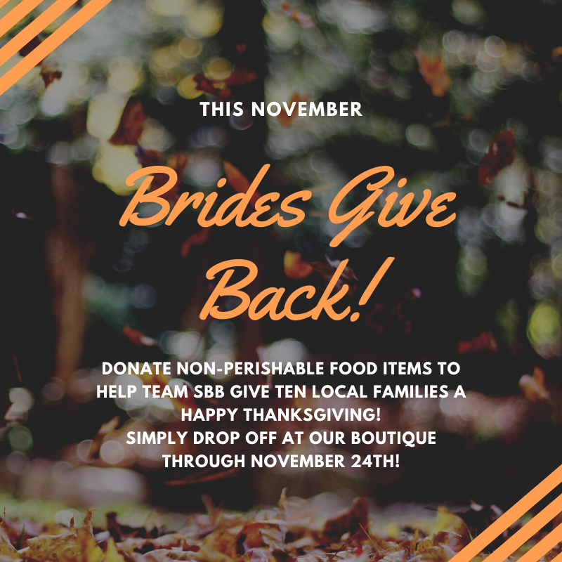 Brides Give Back Food Drive
