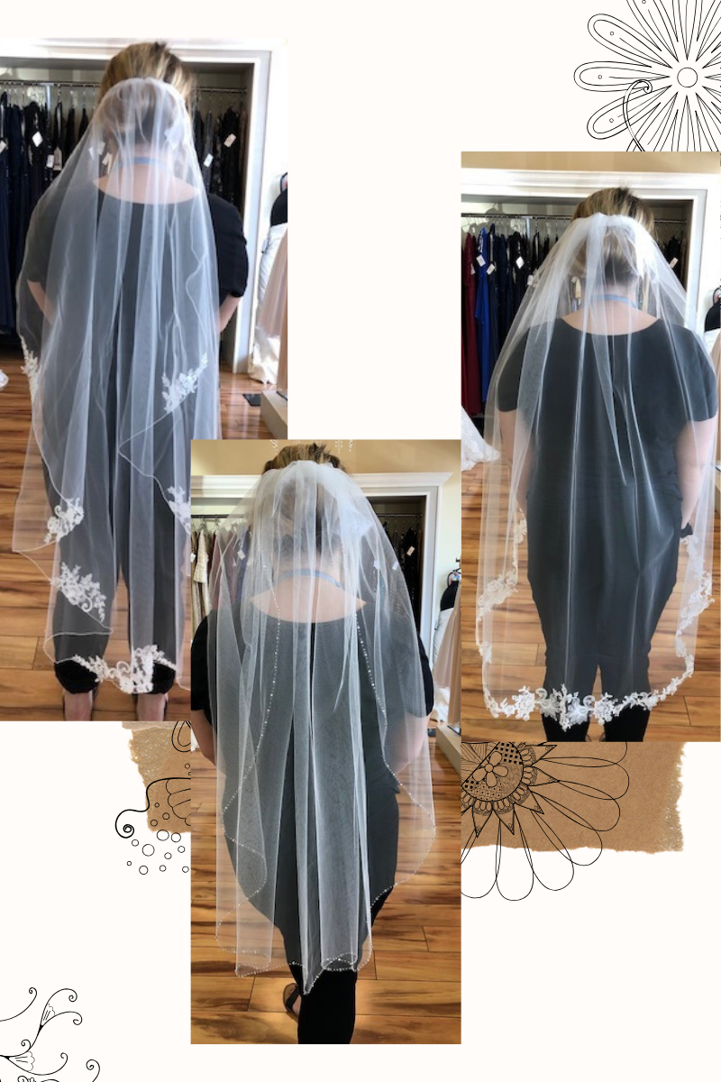 Veils for wedding dresses at Suzanne's Bridal
