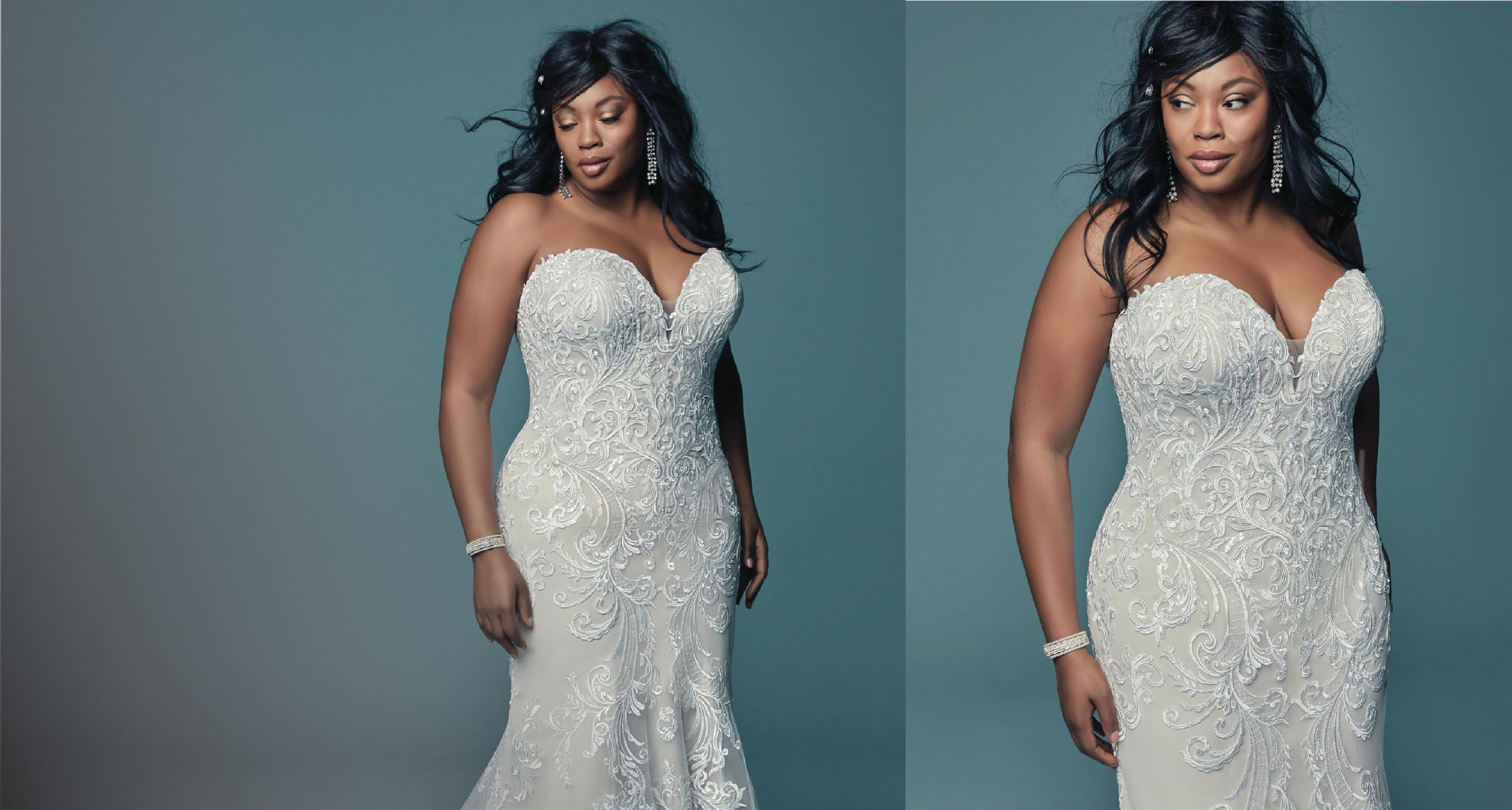 Plus size wedding dresses. Suzanne's Bridal Boutique located in Mesa, AZ. Maggie Sottero designs.